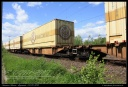 Sggmrs - Couplage de wagons portes containers