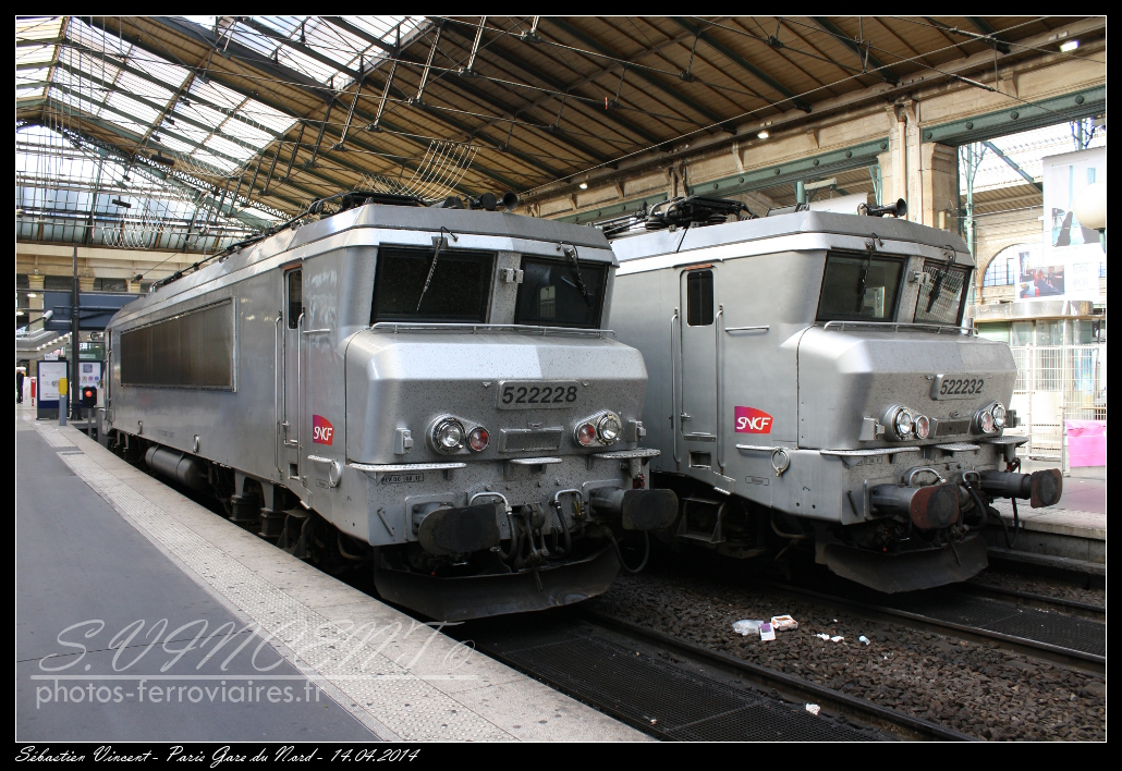 BB 22228 & 22232Paris gare du Nord